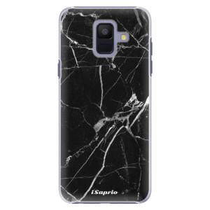 Plastové pouzdro iSaprio Black Marble 18 na mobil Samsung Galaxy A6