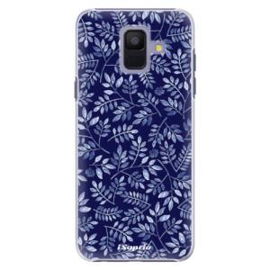 Plastové pouzdro iSaprio Blue Leaves 05 na mobil Samsung Galaxy A6
