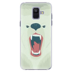 Plastové pouzdro iSaprio Naštvanej Medvěd na mobil Samsung Galaxy A6