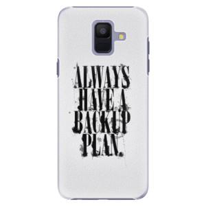 Plastové pouzdro iSaprio Backup Plan na mobil Samsung Galaxy A6