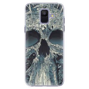 Plastové pouzdro iSaprio Abstract Skull na mobil Samsung Galaxy A6