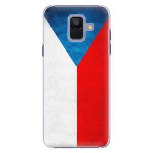 Plastové pouzdro iSaprio Česká Vlajka na mobil Samsung Galaxy A6