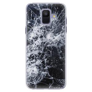 Plastové pouzdro iSaprio Praskliny na mobil Samsung Galaxy A6