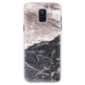 Plastové pouzdro iSaprio BW Mramor na mobil Samsung Galaxy A6