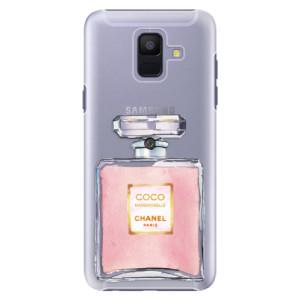 Plastové pouzdro iSaprio Chanel Rose na mobil Samsung Galaxy A6
