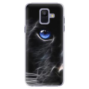 Plastové pouzdro iSaprio Black Puma na mobil Samsung Galaxy A6