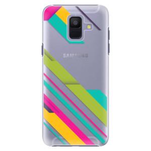 Plastové pouzdro iSaprio Barevné Pruhy 03 na mobil Samsung Galaxy A6