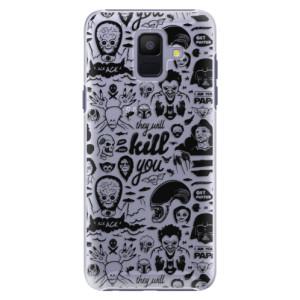Plastové pouzdro iSaprio Komiks 01 black na mobil Samsung Galaxy A6