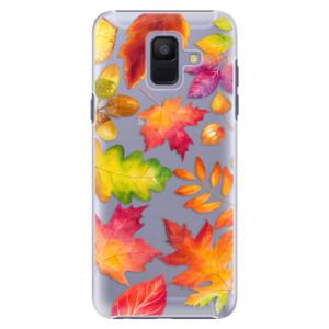 Plastové pouzdro iSaprio Podzimní Lístečky na mobil Samsung Galaxy A6
