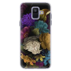 Plastové pouzdro iSaprio Temné Květy na mobil Samsung Galaxy A6