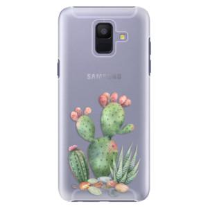 Plastové pouzdro iSaprio Kaktusy 01 na mobil Samsung Galaxy A6
