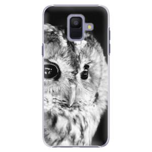 Plastové pouzdro iSaprio BW Sova na mobil Samsung Galaxy A6
