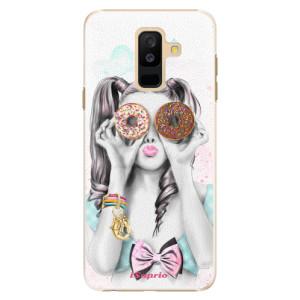 Plastové pouzdro iSaprio Donutky Očiska 10 na mobil Samsung Galaxy A6 Plus