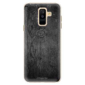 Plastové pouzdro iSaprio Black Wood 13 na mobil Samsung Galaxy A6 Plus