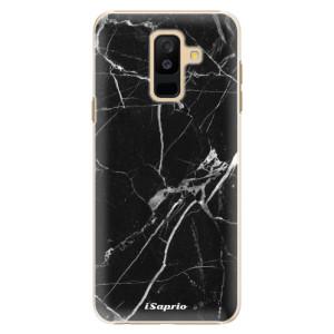 Plastové pouzdro iSaprio Black Marble 18 na mobil Samsung Galaxy A6 Plus