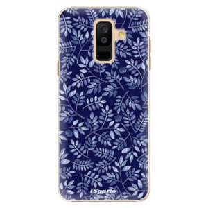 Plastové pouzdro iSaprio Blue Leaves 05 na mobil Samsung Galaxy A6 Plus