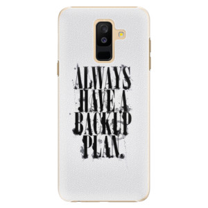 Plastové pouzdro iSaprio Backup Plan na mobil Samsung Galaxy A6 Plus