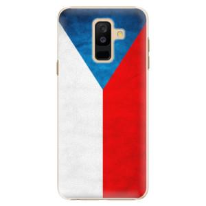 Plastové pouzdro iSaprio Česká Vlajka na mobil Samsung Galaxy A6 Plus