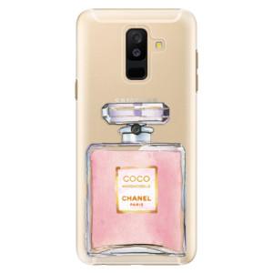 Plastové pouzdro iSaprio Chanel Rose na mobil Samsung Galaxy A6 Plus