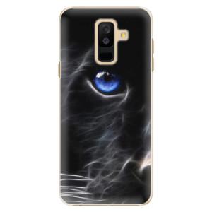 Plastové pouzdro iSaprio Black Puma na mobil Samsung Galaxy A6 Plus