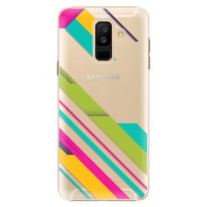 Plastové pouzdro iSaprio Barevné Pruhy 03 na mobil Samsung Galaxy A6 Plus