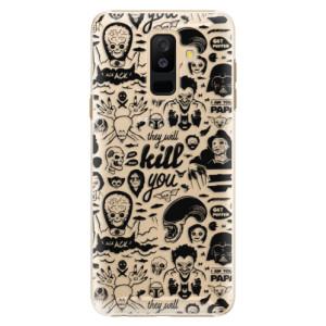 Plastové pouzdro iSaprio Komiks 01 black na mobil Samsung Galaxy A6 Plus
