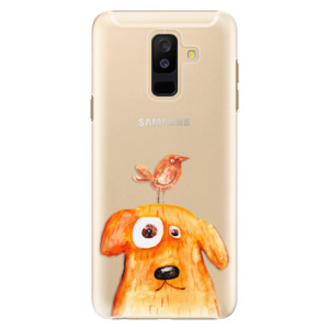 Plastové pouzdro iSaprio Pejsek a Ptáček na mobil Samsung Galaxy A6 Plus