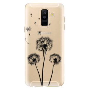 Plastové pouzdro iSaprio Tři Černé Pampelišky na mobil Samsung Galaxy A6 Plus