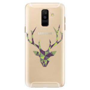 Plastové pouzdro iSaprio Zelený Jelínek na mobil Samsung Galaxy A6 Plus