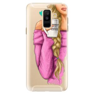 Plastové pouzdro iSaprio Blondýnka s kafčem na mobil Samsung Galaxy A6 Plus