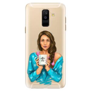 Plastové pouzdro iSaprio Coffee Now Brunetka na mobil Samsung Galaxy A6 Plus