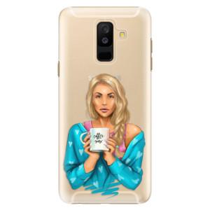 Plastové pouzdro iSaprio Coffee Now Blondýna na mobil Samsung Galaxy A6 Plus