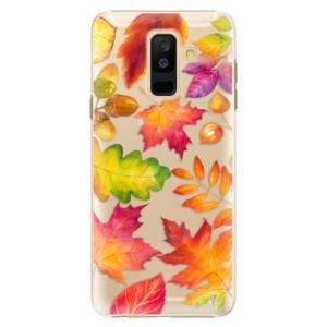Plastové pouzdro iSaprio Podzimní Lístečky na mobil Samsung Galaxy A6 Plus