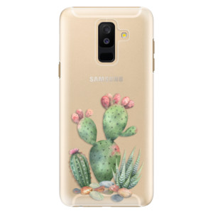 Plastové pouzdro iSaprio Kaktusy 01 na mobil Samsung Galaxy A6 Plus