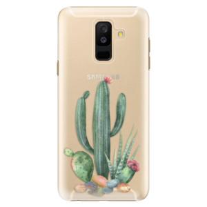 Plastové pouzdro iSaprio Kaktusy 02 na mobil Samsung Galaxy A6 Plus