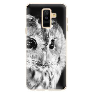 Plastové pouzdro iSaprio BW Sova na mobil Samsung Galaxy A6 Plus