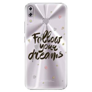 Plastové pouzdro iSaprio Follow Your Dreams černý na mobil Asus ZenFone 5 ZE620KL
