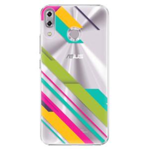 Plastové pouzdro iSaprio Barevné Pruhy 03 na mobil Asus ZenFone 5 ZE620KL