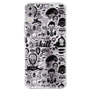 Plastové pouzdro iSaprio Komiks 01 black na mobil Asus ZenFone 5 ZE620KL