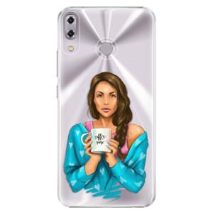Plastové pouzdro iSaprio Coffee Now Brunetka na mobil Asus ZenFone 5 ZE620KL