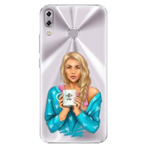 Plastové pouzdro iSaprio Coffee Now Blondýna na mobil Asus ZenFone 5 ZE620KL