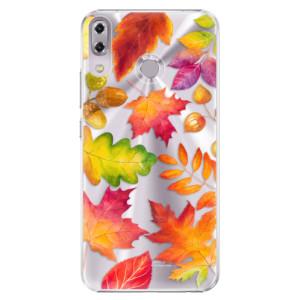 Plastové pouzdro iSaprio Podzimní Lístečky na mobil Asus ZenFone 5 ZE620KL