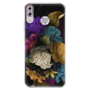 Plastové pouzdro iSaprio Temné Květy na mobil Asus ZenFone 5 ZE620KL