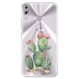 Plastové pouzdro iSaprio Kaktusy 01 na mobil Asus ZenFone 5 ZE620KL
