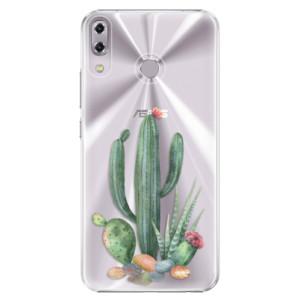 Plastové pouzdro iSaprio Kaktusy 02 na mobil Asus ZenFone 5 ZE620KL