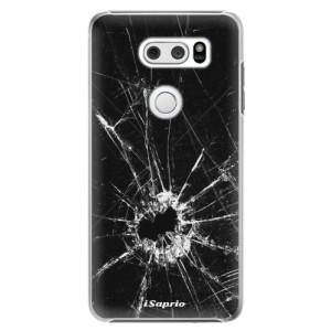 Plastové pouzdro iSaprio Broken Glass 10 na mobil LG V30