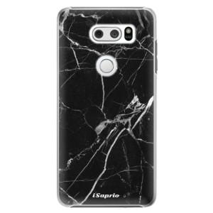 Plastové pouzdro iSaprio Black Marble 18 na mobil LG V30