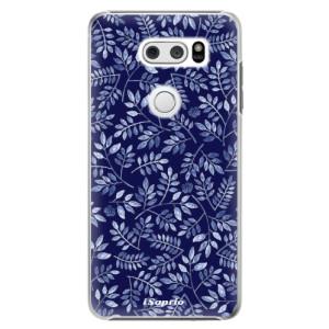 Plastové pouzdro iSaprio Blue Leaves 05 na mobil LG V30