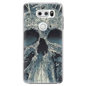 Plastové pouzdro iSaprio Abstract Skull na mobil LG V30