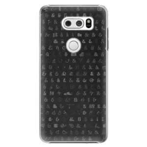 Plastové pouzdro iSaprio Ampersand 01 na mobil LG V30